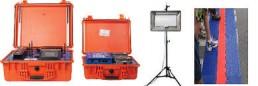 Controllers, antenne en mat die samen zorgen voor een feilloze tijdmeting.